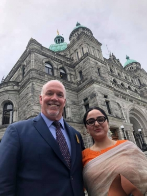 Visiting Human Rights Defender from India introduced to BC Legislature
