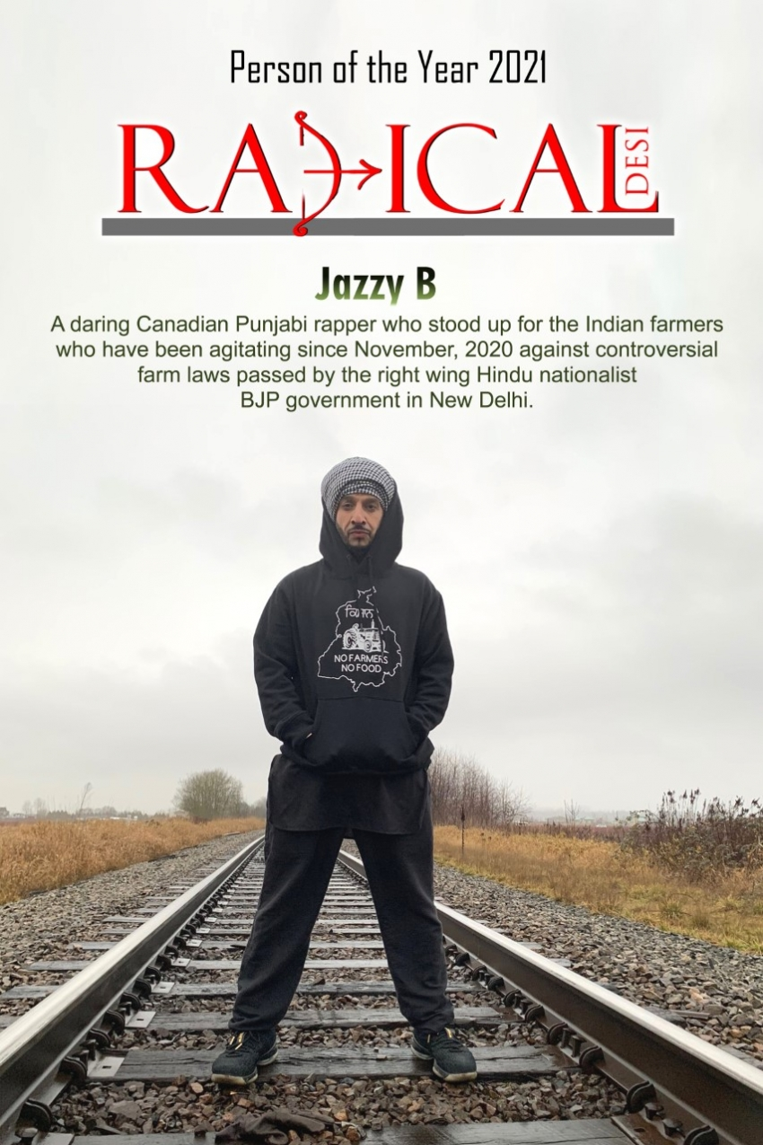 Radical Desi declares Jazzy B a Person of the Year 2021