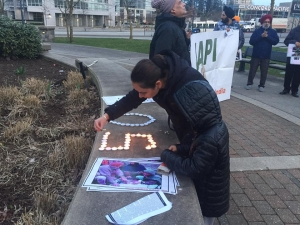 Vigil held in Vancouver for the victims of Chittisinghpura massacre and other Kashmiris killed by Indian forces