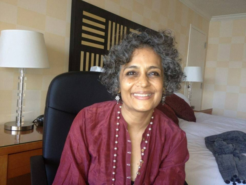 Indian consulate removes Arundhati Roy's slide from a presentation on Ambedkar