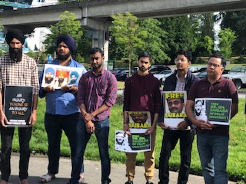 Rally held for Saibaba in Surrey