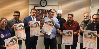 Calendar dedicated to Guru Nanak's 550th birth anniversary released in Surrey