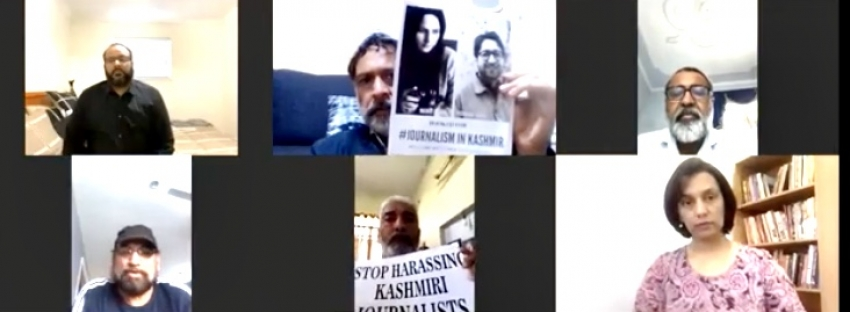 Zoom rally in solidarity with Kashmiri journalists held in Canada